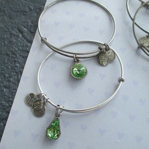 Lot of 2 Alex & Ani peridot bracelet silver